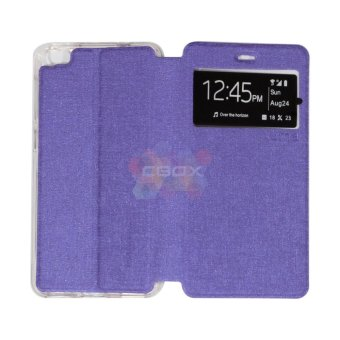 Harga Ume Flipcover For Hisense L671 Pureshot Flip Shell / Leather Case / Sarung Case / Sarung HP / View - Ungu