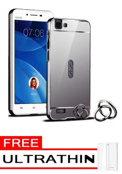 ... Harga Case for Vivo Y35 Aluminium Bumper With Mirror Backdoor Slide Black Free