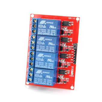 Harga 4-Channel 24V Relay Module Board for Arduino (Works with Official Arduino Boards)