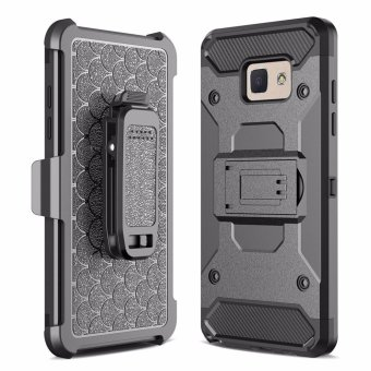 Harga for Samsung Galaxy J5(2017) & J5 Prime & ON5(2016) & G570 [Steel Clamp] Heavy Duty Advanced Armor Belt Clip Holster With Built-in Kickstand Cell Phone Drop Protection Case Cover - intl