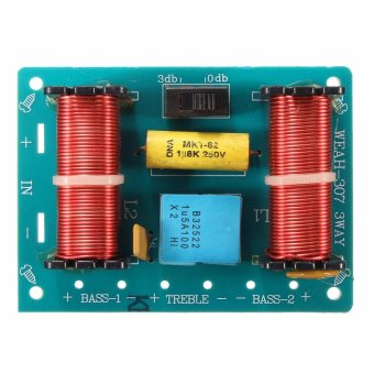 Harga Treble Bass 3 Way Frequency Divider Speaker Audio Crossover Filters Board DIY - intl