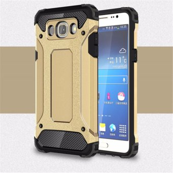 Harga for Samsung Galaxy J5(2016) & J510 [Steel Armor] 2in1 Carbon Fibre Premium Soft TPU + Hard PC Hybrid Back Cover Cell Phone Armor Case Shockproof - intl