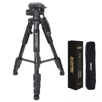 Harga ZOMEI Q111 55-Inch Professional Aluminium Camera Tripod Camcorder Stand with PanHead Plate for DSLR Canon Nikon Sony DV Video (Black) - intl