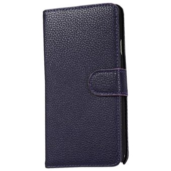 Harga Max - Samsung Galaxy Note 3 Wallet Flip Case Leather - Navy