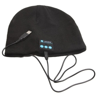 Harga Bluetooth Knit Beanie with Hands-free Calls - Hitam