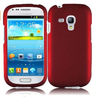 Harga Leegoal Red Rubberized Snap On Hard Case Cover for Samsung Galaxy S3 Mini I8190 - intl