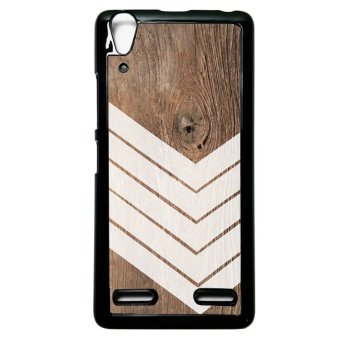 Harga Heavencase Case Casing Lenovo A6000 and A6000 Plus Hardcase Batik Kayu Chevron 06 - Hitam