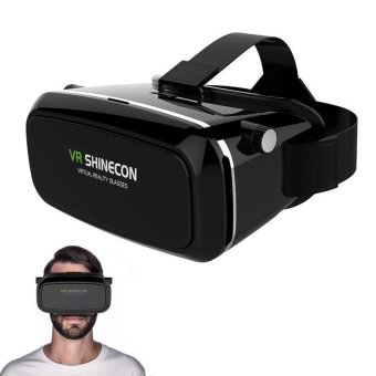 Harga Cool Christmas Birthday Gift VR SHINECON 3D Glasses VR Box Virtual Reality Cardboard for iPhone Samsung HTC Sony(black) - intl
