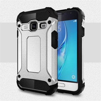 Harga for Samsung Galaxy J1 Mini [Steel Armor] 2in1 Carbon Fibre Premium Soft TPU + Hard PC Hybrid Back Cover Cell Phone Armor Case Shockproof - intl