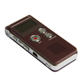 Harga Rechargeable 8GB 13Hr Digital Audio/Sound/Voice Recorder Dictaphone MP3 Player - intl