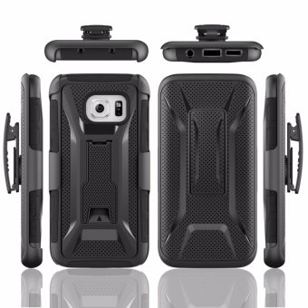 Harga for Samsung Galaxy S7 Edge [X COOL Dot] GuluGuru Heavy Duty Armor Belt Clip Holster With Built-in Kickstand Cell Phone Drop Protection Case Cover - intl