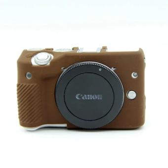 Harga Soft Silicone Rubber Camera Case for Canon EOS M3(Coffee) - intl