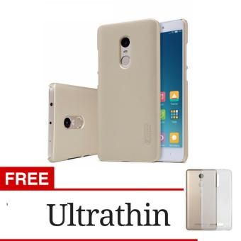 Harga Gerai Elegant Frosted Shield Back Cover Case For Xiaomi Redmi Note 4 - Gold + Gratis Ultrathin