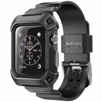 Harga SUPCASE [Unicorn Beetle Pro] Rugged Protective Case with Strap Bands for Apple Watch Series 2 2016 Edition, 38mm Black - intl