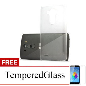 Harga Case for LG X Cam - Clear + Gratis Tempered Glass - Ultra Thin Soft Case