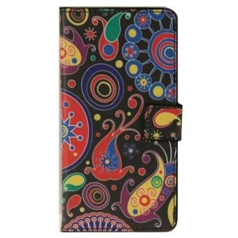 Harga Colorful Painting Pattern Leather Case with Holder and Card Slots and Wallet for ZTE Blade S6 - intl