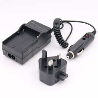 Harga Battery Charger for SONY Cyber-Shot DSC-W690 DSC-W710 DSC-W730Digital Camera AC+DC Wall+Car - intl