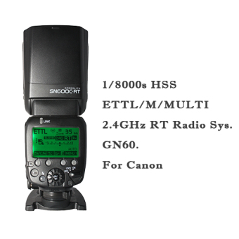 Harga (IMPORT) SHANNY SN600C-RT 2.4G Wireless Flash Speedlite HSS 1/8000s Radio TTL on-camera GN60 For Canon RT With Built-In Radio