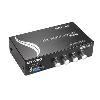 Harga MT-Viki 4 port 4-di-1-out VFA dan AUDIO penguat saklar pemisah logam USB MT-15-4AV