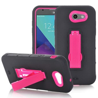 Harga Bling Hard Rubber Impact Armor Case Back Hybrid For Samsung Galaxy J3 2017 Hotpink