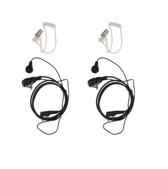 Harga 2x FBI Police Security Headset For Baofeng UV-3R /5R Radio Shoulder Speaker Mic - intl
