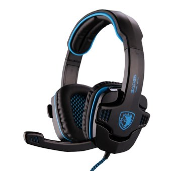 Harga Sades SA-901 USB PC Gaming Headset with Mic (Black/Blue)
