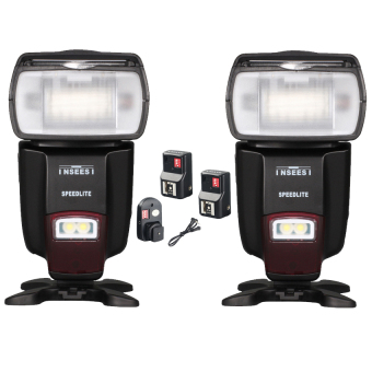 Harga INSEESI IN560IV Wireless flash Speedlite GN50 2PCS +WANSEN PT-16GY 16 Channels Wireless Remote Speedlite Flash Light Trigger + 2PCS Receiver For Canon Nikon Pentax Olympus