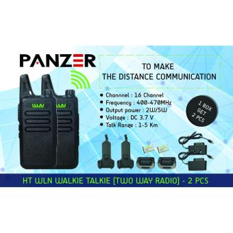 Harga Walkie Talkie WLN HT Two-Way Radio - HITAM ( ISI 2 PCS )