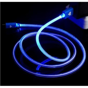 LED LIGHT Round Micro USB Charger Data Sync Cable for Samsung Galaxy S3,S4,S5,S6