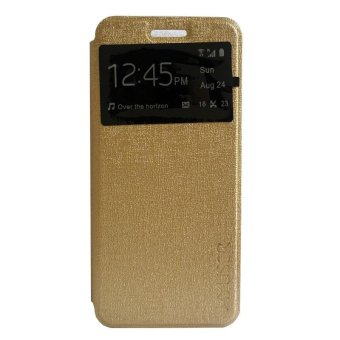 Harga My User Flip Cover Asus Zenfone 3 Max / ZC520TL - Gold