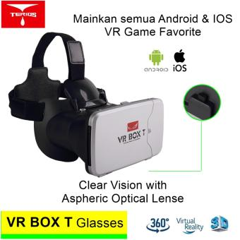 Harga VR Box T 3D VR Cardboard 2 with Capacitive Touch Button Virtual Reality Glasses - Putih