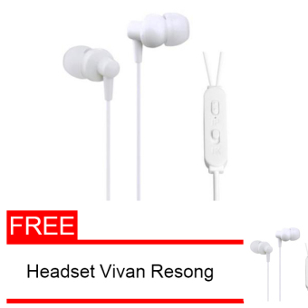 Harga Vivan Resong W3 Plus Stereo Earphone Powerful Trubass - Putih Free Earphone Vivan Resong W3 Plus