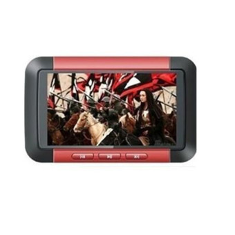 Harga 3 inch TFT Screen Real 8GB MP4 MP5 Game Player with FM Radio Ebook TV (Red)