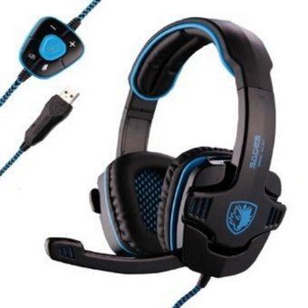 Harga Sades SA-901 Wolfang Gaming Headset 7.1 Surround - Biru