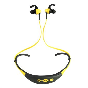 Harga NEW Blutooth Auriculares Sport Bluetooth Headset Earphone Wireless Headphone Ear Phone Handsfree for SmartPhone (Yellow)