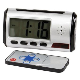 Harga Best CT Alarm Clock Spy camera silver