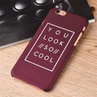 Harga Case Casing iPhone 6 Premium Hardcase Dove - You Look So Cool - Cokelat