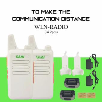 Harga Walkie Talkie WLN HT Two-Way Radio (isi 2pcs)- Putih