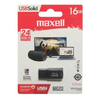 Harga Maxell USB Solid Flashdisk - 16GB - Black