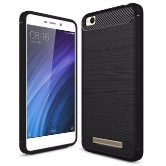 Harga for Xiaomi Redmi 4A [Carbon Fibre] 2in1 Fashion Premium Brushed Armor Soft TPU Back Cover Cell Phone Case Non-slip Shockproof - intl
