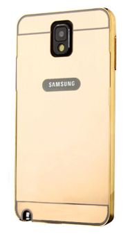 Harga Casing Metal Bumper Mirror for Samsung Galaxy Note 3 - Gold