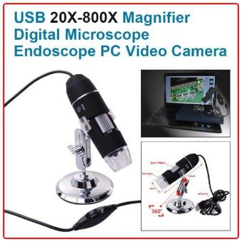 Harga XCSource 20X-800X 8LED 3D Zoom Digital USB Microscope PC Endoscope Camera / Mikroskop