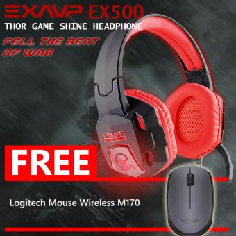 Harga EXAVP THOR Shine Headphone - Headset Gaming EX500 FREE Logitech Mouse Wireless M170