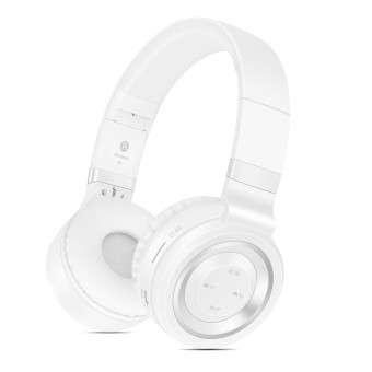 Sound Intone P6 Wireless Bluetooth 4.0 Headphones (White/Silver)