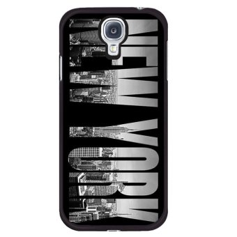 Harga New York Word Carton Phone Case For Samsung Galaxy S4 mini(Multicolor) - intl