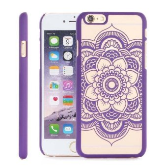 Harga Hard Carved Translucent Phone shell Case For iPhone 6S 4.7 Inch Purple - intl