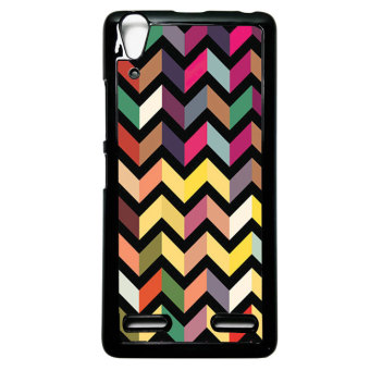 Harga Heavencase Case Casing Lenovo A6000 and A6000 Plus Hardcase Batik Kayu Chevron 28 - Hitam