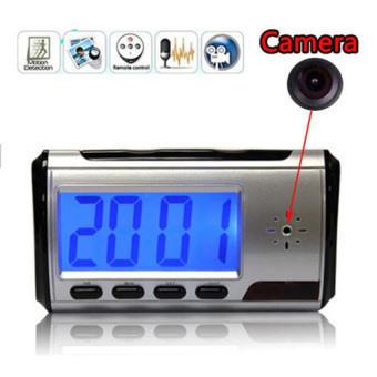Harga Kamera Pengintai Spy Camera Digital Clock Appearance 720P Motion Detection with Remote Control