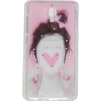Cantiq Case Lovely Girls Shine Swarovsky For Xiaomi MI 4 Ultrathin Jelly Case Air Case 0.3