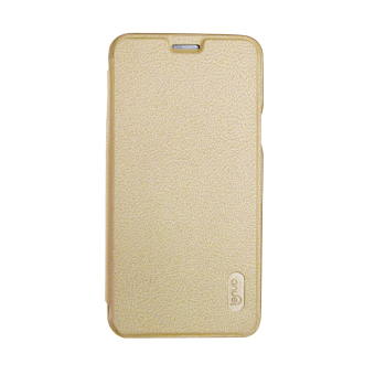 Harga Lenuo PU Leather Cover Soft PC Back Cover for Samsung Galaxy Note 5 (N920) (Gold)